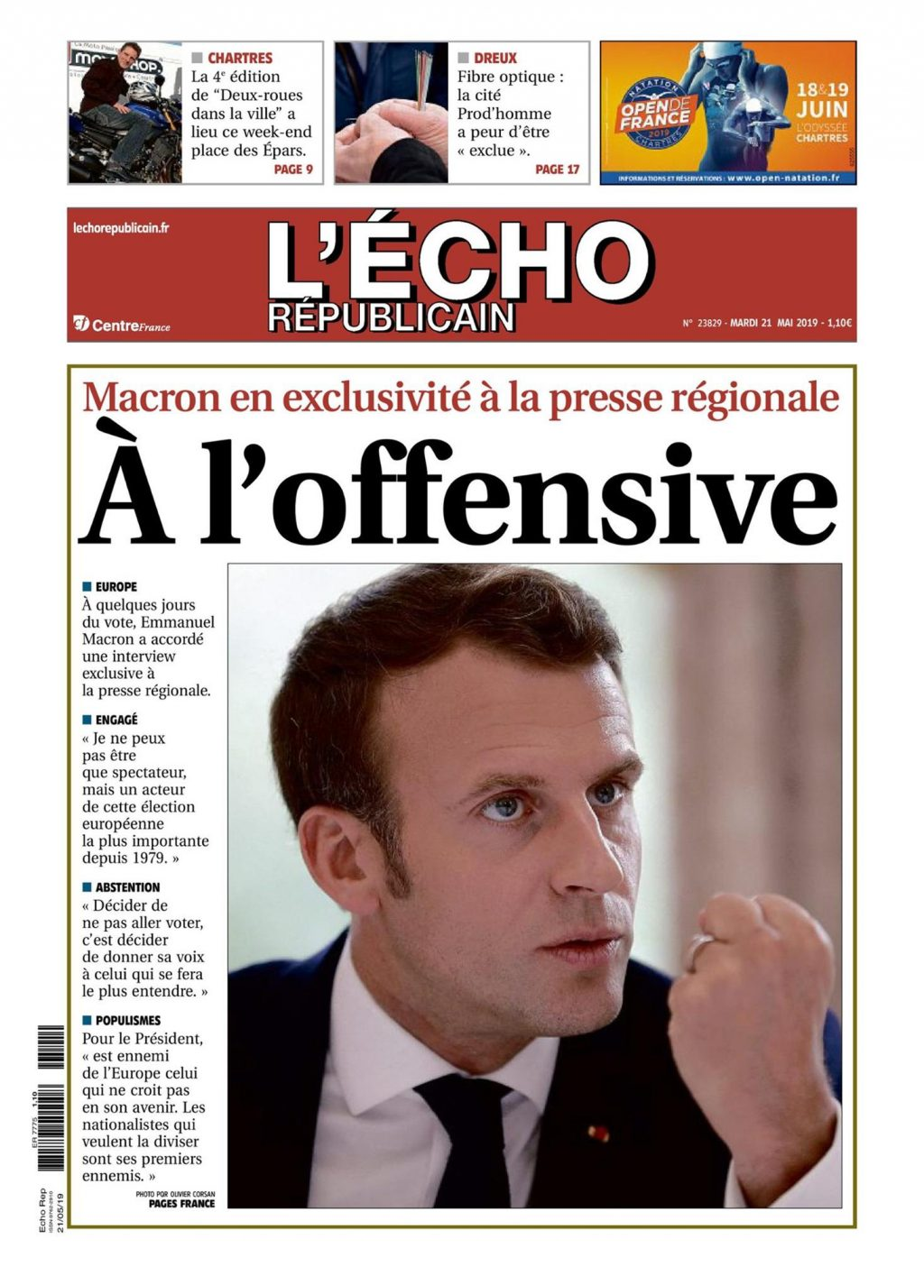 Écho 21-05-2019 Une Interview Macron