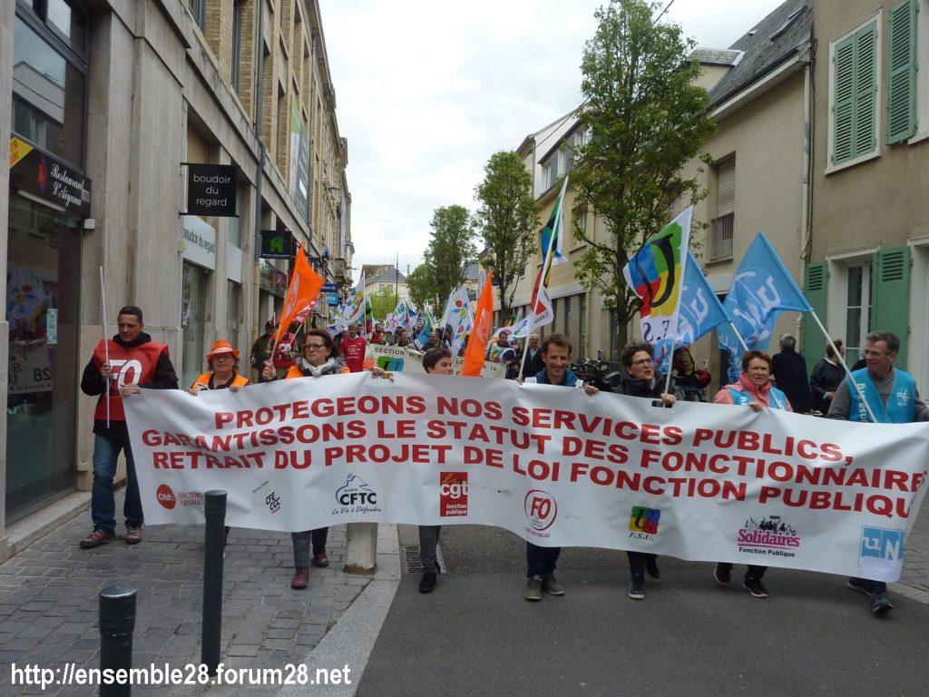 Chartres 09-05-2019 Manifestation Fonction-publique 01