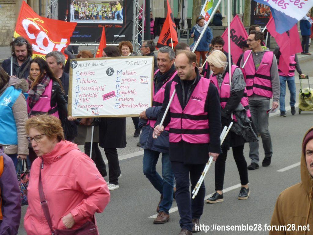 Chartres 09-05-2019 Manifestation Fonction-publique 08