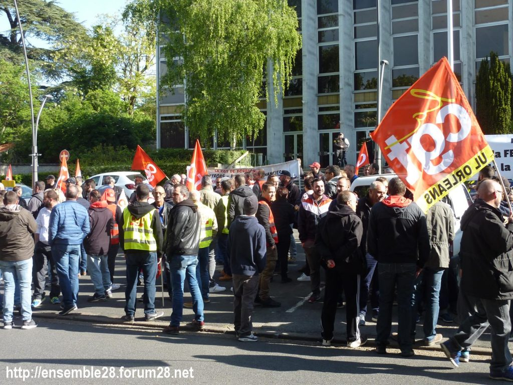 Toury Sucrerie Cristal-Union AG Pithiviers 16-05-2019 Rassemblement CGT 01
