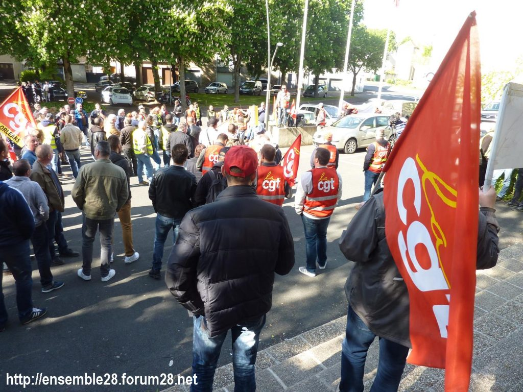 Toury Sucrerie Cristal-Union AG Pithiviers 16-05-2019 Rassemblement CGT 04