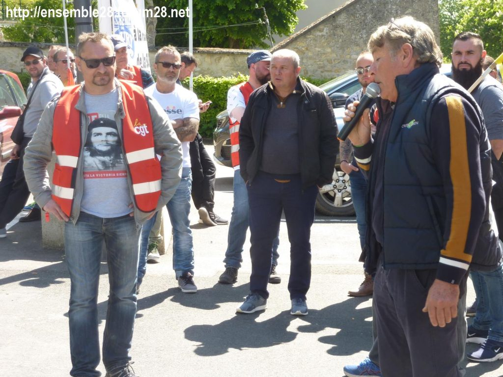 Toury Sucrerie Cristal-Union AG Pithiviers 16-05-2019 Rassemblement CGT 13