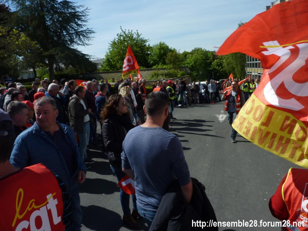 Toury Sucrerie Cristal-Union AG Pithiviers 16-05-2019 Rassemblement CGT 15