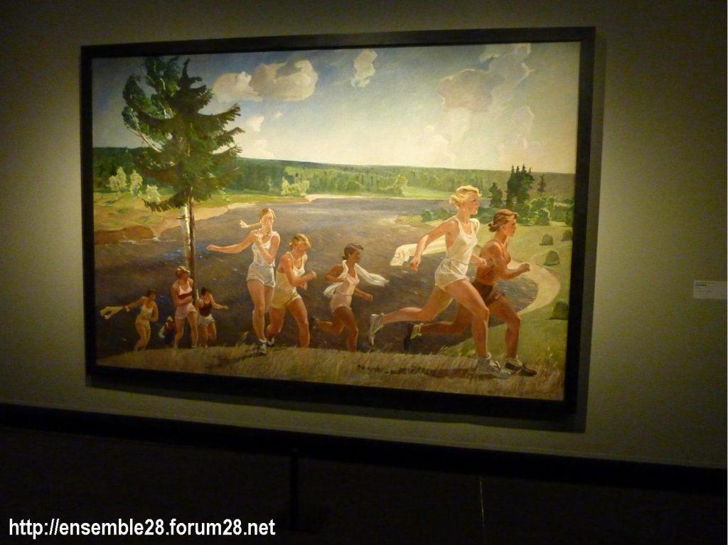 Expo Rouge, Pleine liberté de Deïneka, 1944, le réalisme socialiste