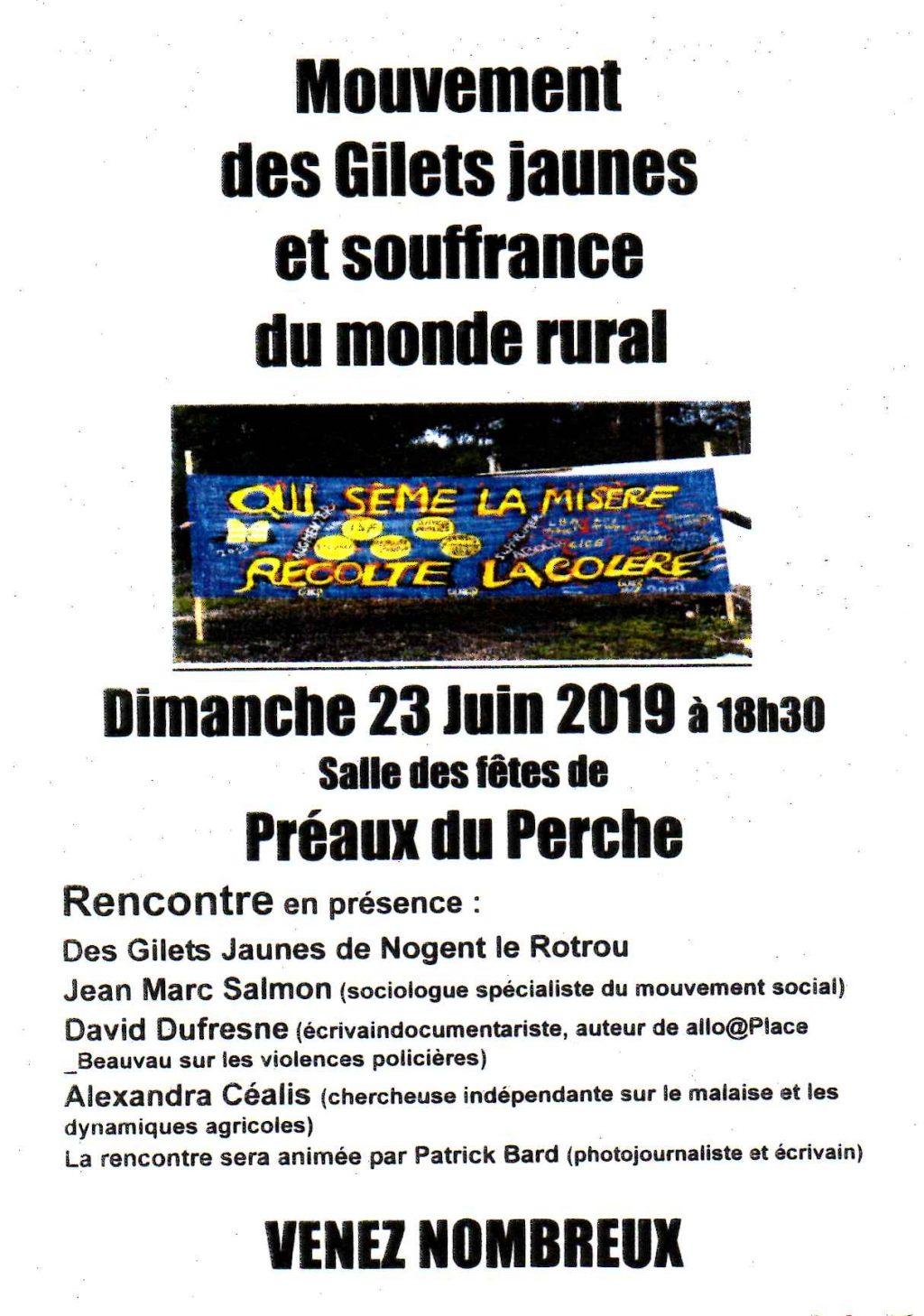 Flyer Gilets Jaunes Débat Préaux 23-60-2019 [fond blanc]