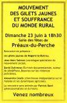 Flyer Gilets Jaunes Débat Préaux 23-60-2019 [fond jaune]