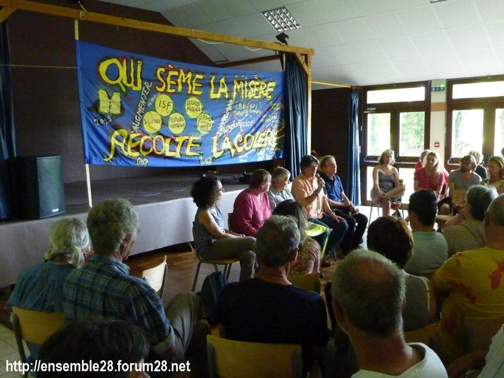 Préaux-du-Perche 23-60-2019 Gilets Jaunes Débat Monde rural 01