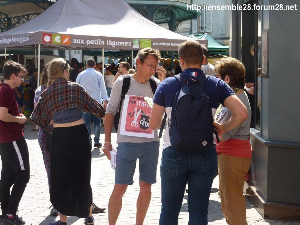 Chartres 13-07-2019 Tractage Stop-TAFTA28 contre le CETA 1