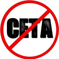 Stop CETA [Visuel panneau interdiction]