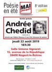 Flyer Andrée Chedid Mai pourquoi 22-08-2019
