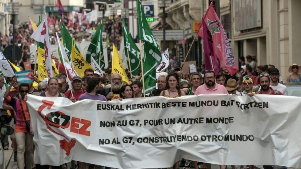 Manif anti-G7 13-07-2019 Biarritz