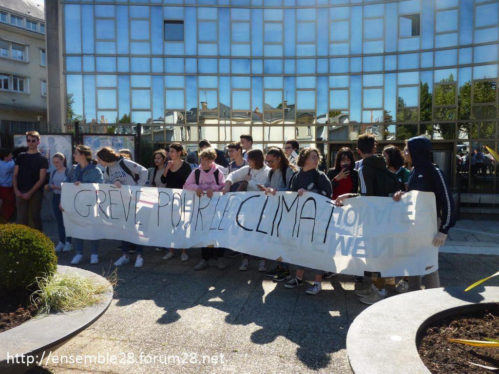 20-09-2019 Chartres Manifestation Climat Lycéens 03