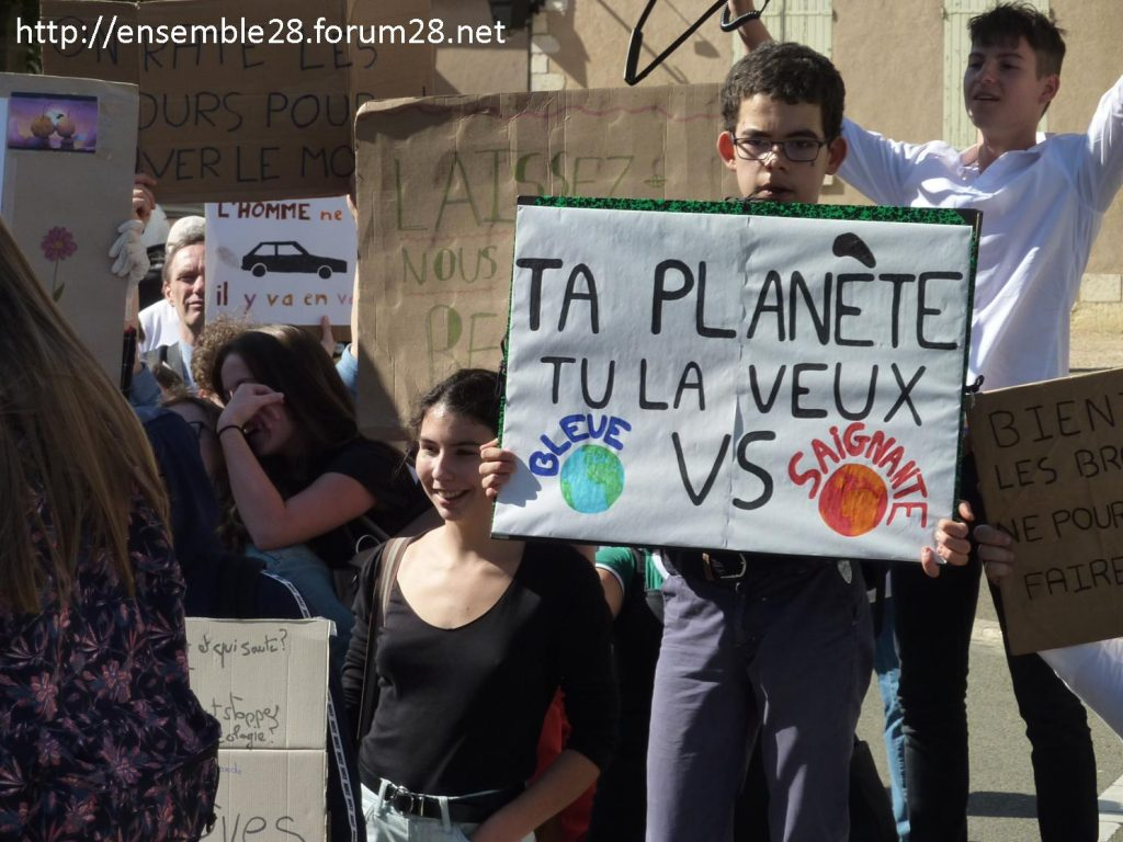 20-09-2019 Chartres Manifestation Climat Lycéens 06