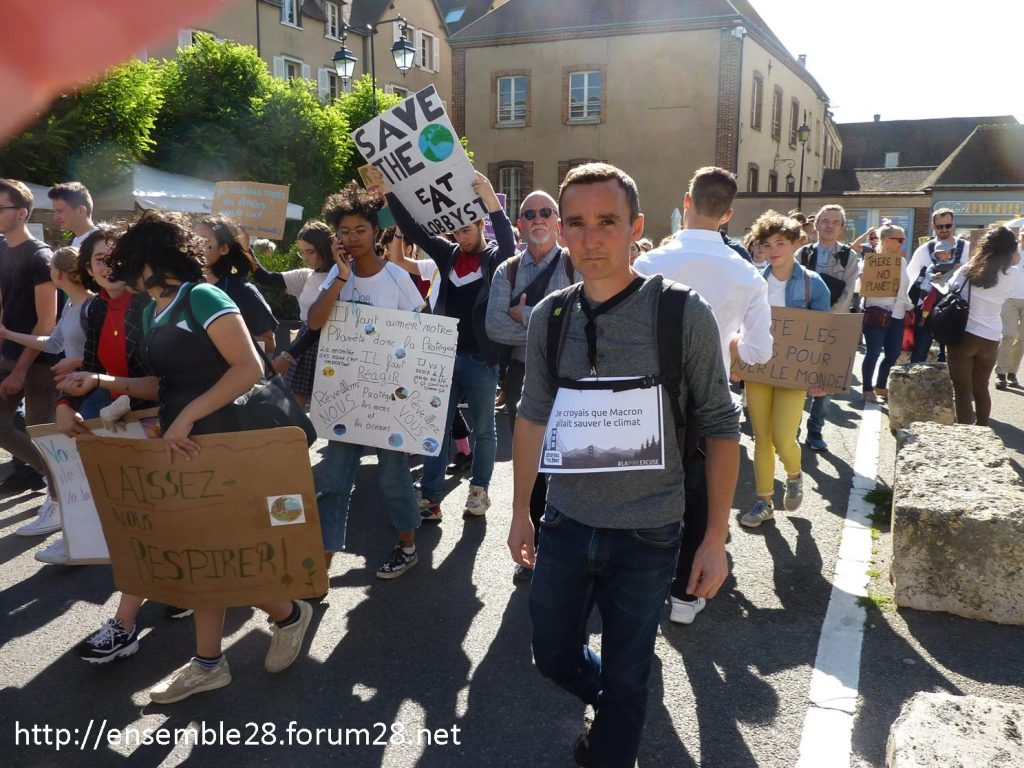 20-09-2019 Chartres Manifestation Climat Lycéens 07