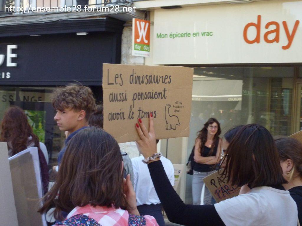 20-09-2019 Chartres Manifestation Climat Lycéens 09