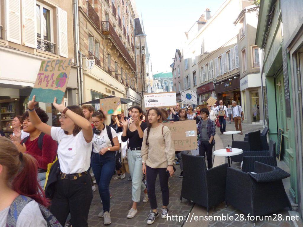 20-09-2019 Chartres Manifestation Climat Lycéens 10