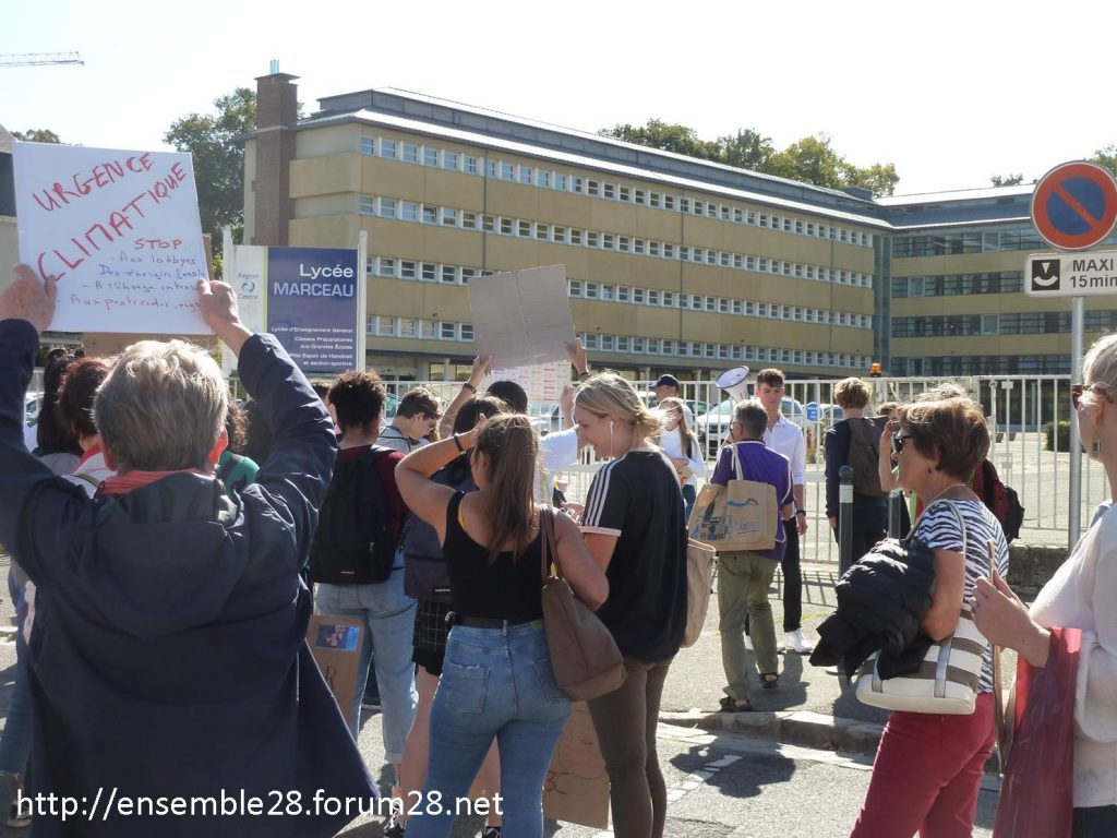 20-09-2019 Chartres Manifestation Climat Lycéens 12