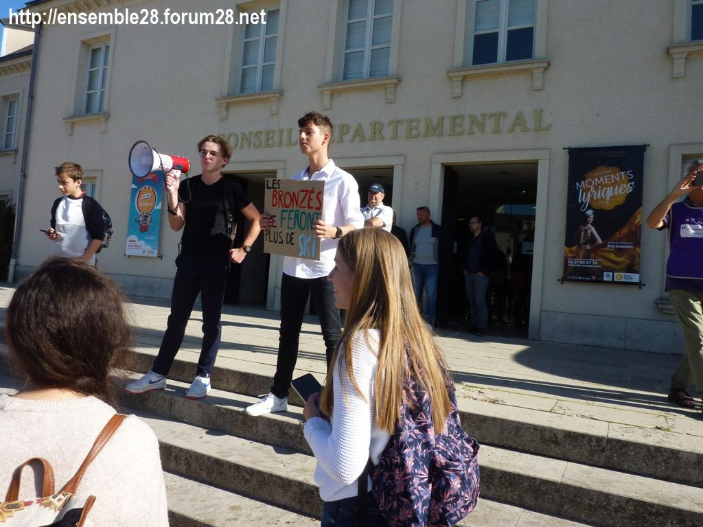20-09-2019 Chartres Manifestation Climat Lycéens 15