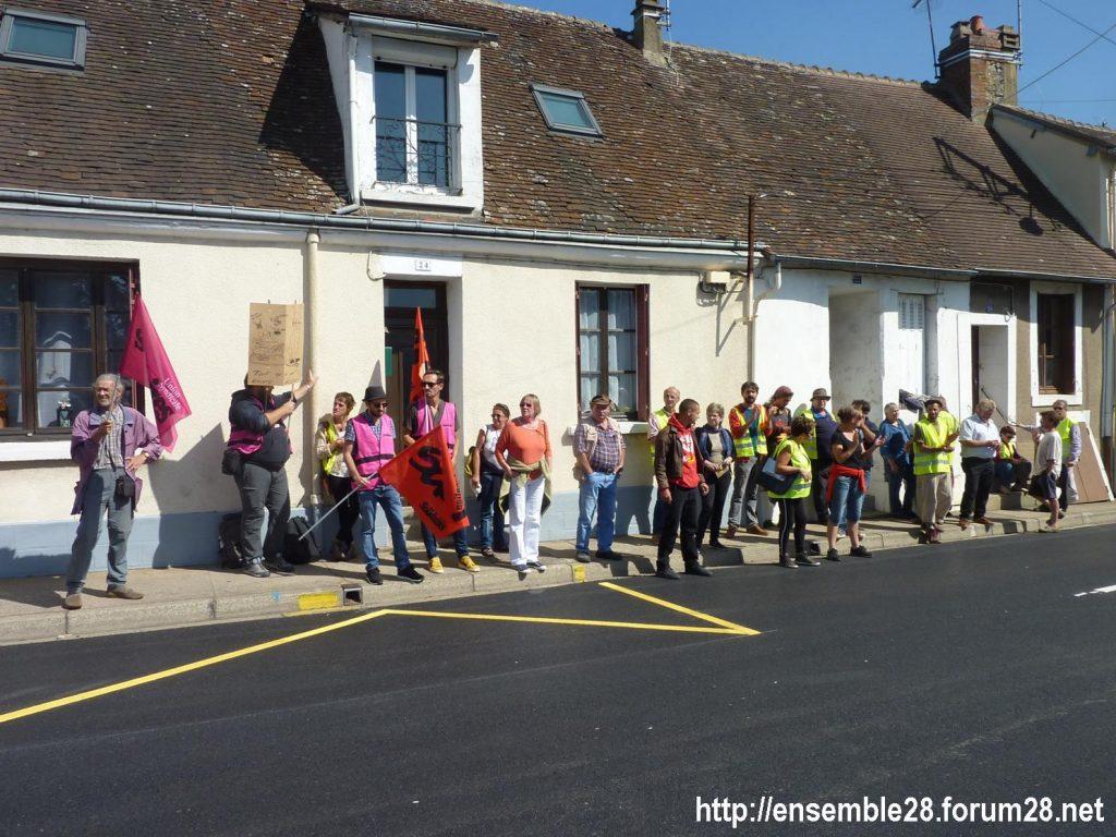 Nogent-le-Rotrou 06-09-2019 Lycée Rémi-Belleau Gilets-Jaunes Visite Blanquer 01