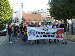 Toury 31-08-2019 Manifestation contre la fermeture de la sucrerie Cristal Union 00