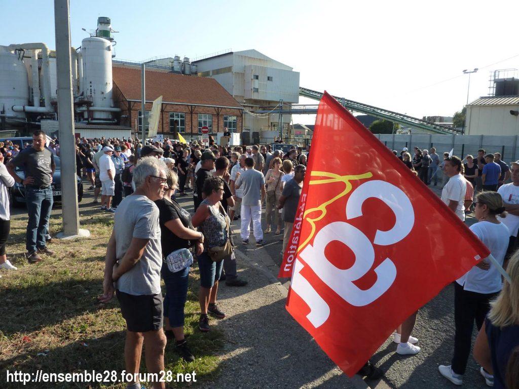 Toury 31-08-2019 Manifestation contre la fermeture de la sucrerie Cristal Union 02