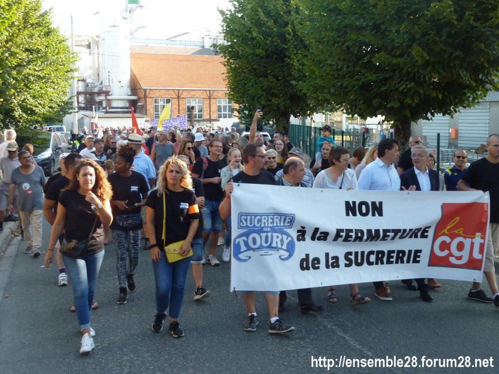Toury 31-08-2019 Manifestation contre la fermeture de la sucrerie Cristal Union 04