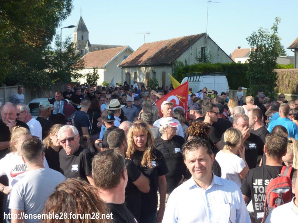 Toury 31-08-2019 Manifestation contre la fermeture de la sucrerie Cristal Union 11