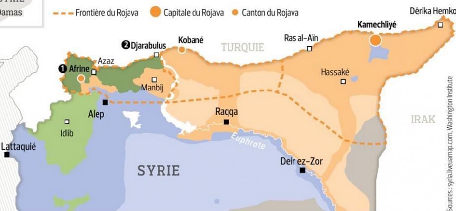 Carte du Rojava