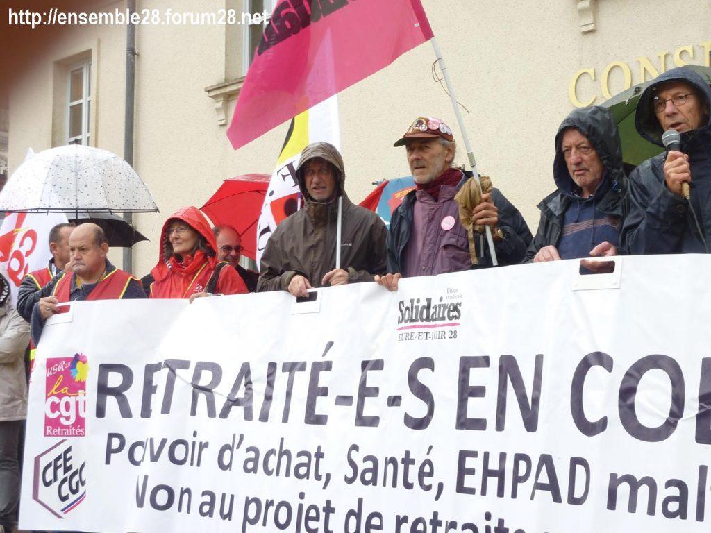 Chartres 08-10-2019 Manifestation Retraités 01