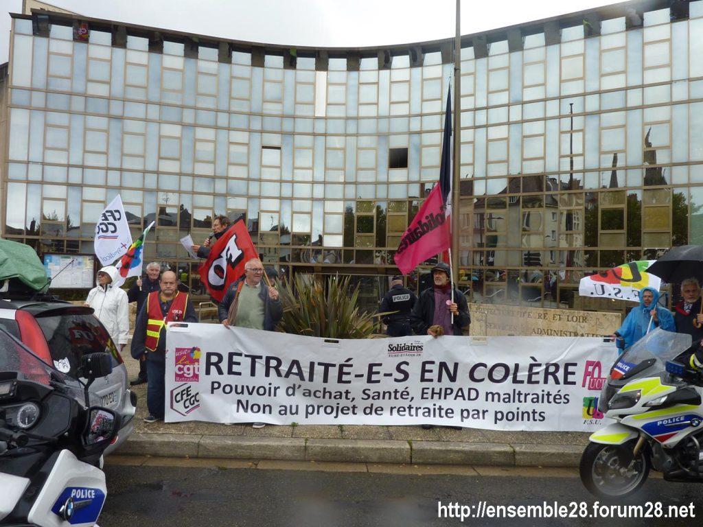 Chartres 08-10-2019 Manifestation Retraités 07