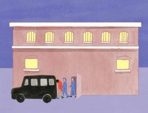 Centre de rétention administrative (CRA) [dessin 1]
