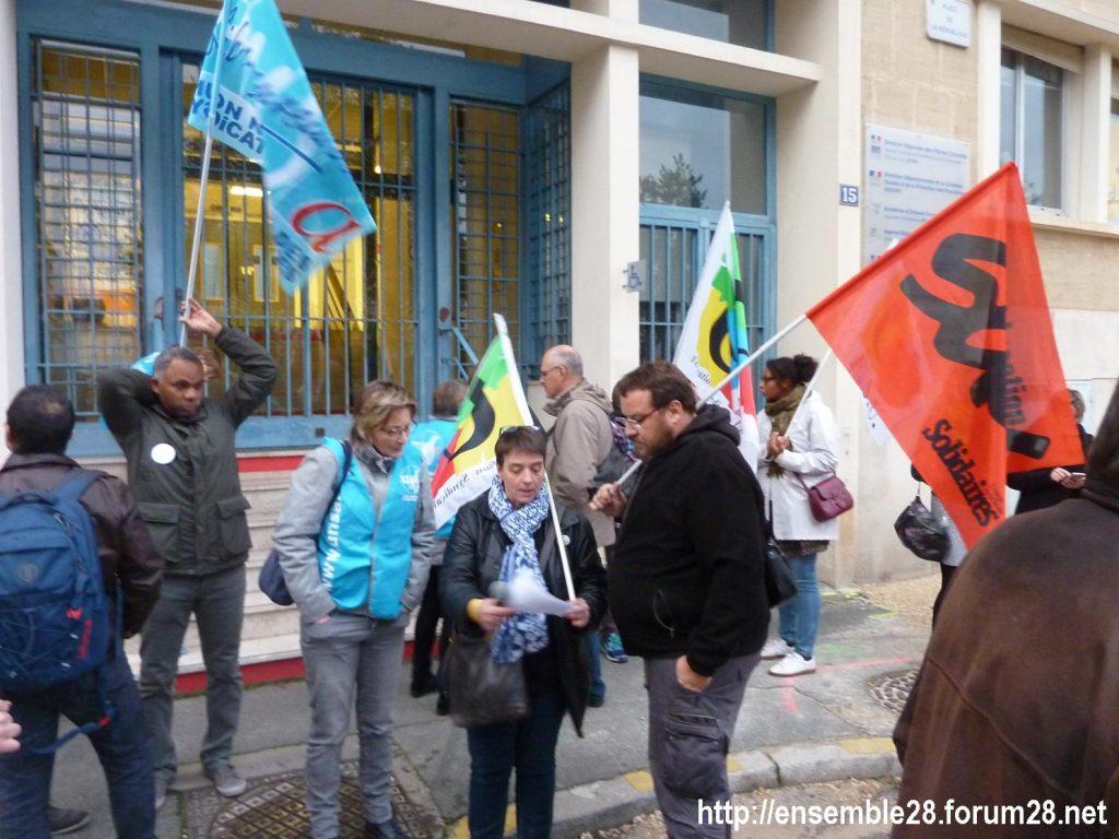 Chartres 05-11-2019 Rassemblement Professeurs CHSCT DSDEN 00