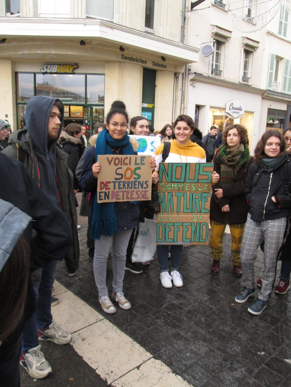 Chartres 29-11-2019 Marche Lycéens pour le climat 1