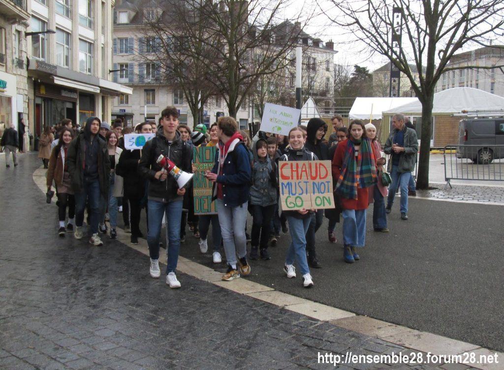 Chartres 29-11-2019 Marche Lycéens pour le climat 2