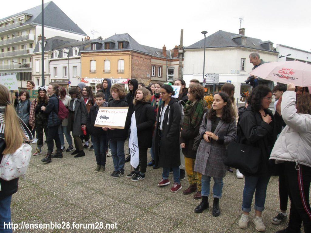 Chartres 29-11-2019 Marche Lycéens pour le climat 4