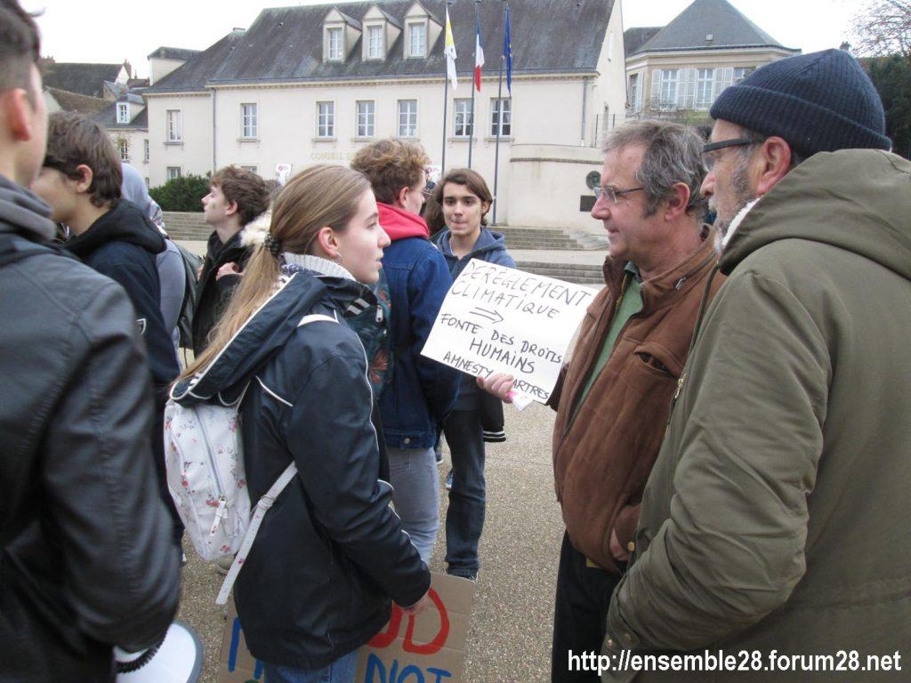 Chartres 29-11-2019 Marche Lycéens pour le climat 7