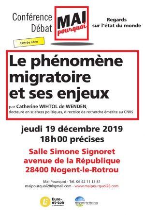 Le Phénomène migratoire et ses enjeux / Salle Simone-Signoret / Nogent-le-Rotrou / 19 décembre / 18 h. @ NOGENT-LE-ROTROU - Salle Simone-Signoret