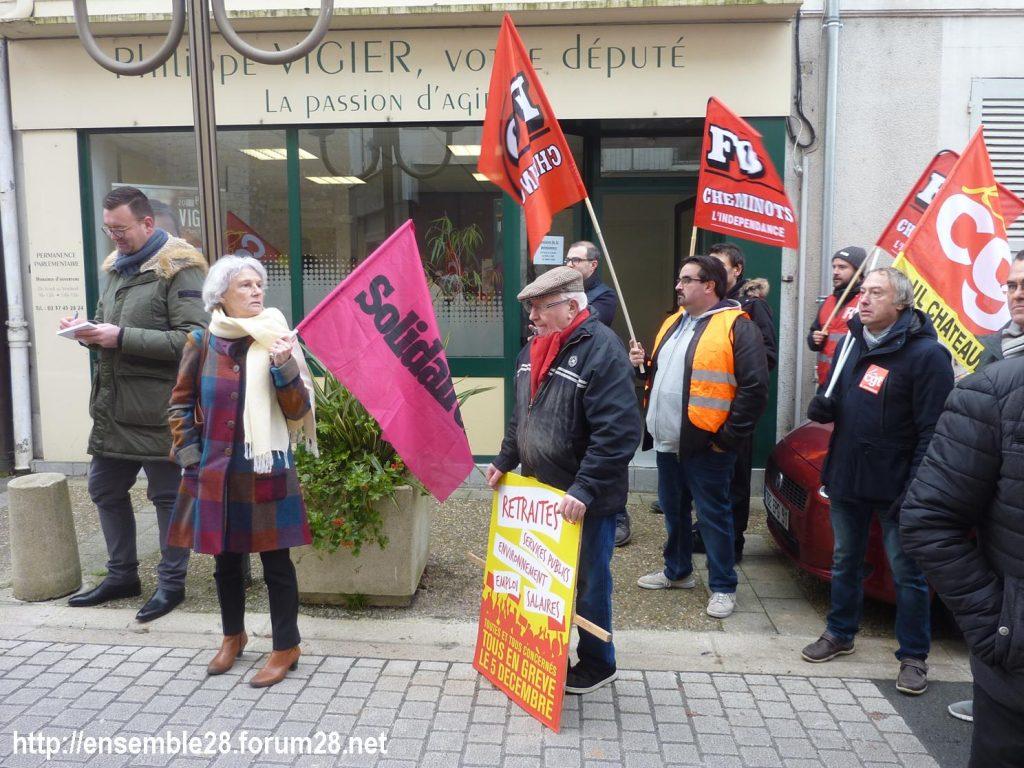 Châteaudun 05-12-2019 Manifestation Retraites 08
