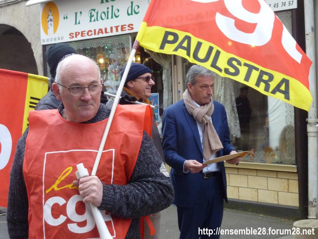 Châteaudun 05-12-2019 Manifestation Retraites 09