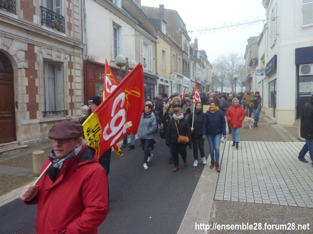 Châteaudun 05-12-2019 Manifestation Retraites 10