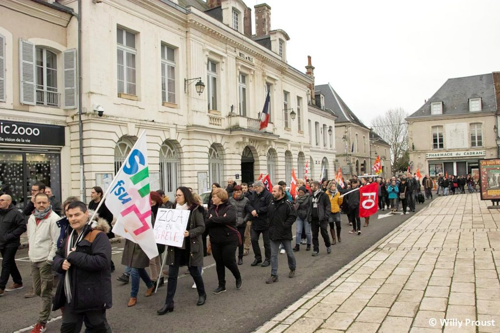 Châteaudun 17-12-2019 Manifestation Retraites [Photo Willy Proust] 3