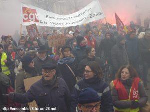Chartres 05-12-2019 Manifestation Retraites 04