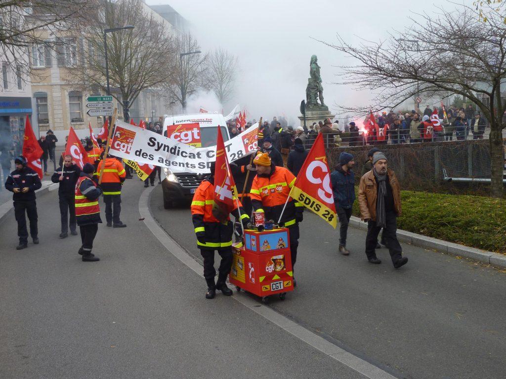 Chartres 05-12-2019 Manifestation Retraites 10