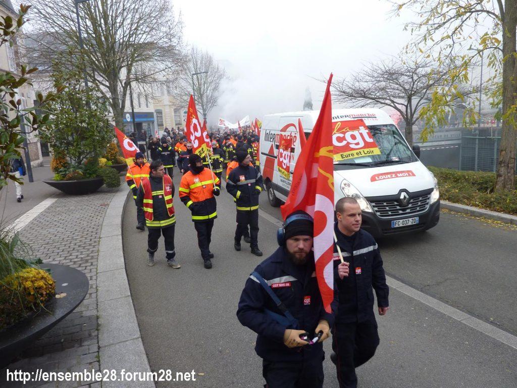 Chartres 05-12-2019 Manifestation Retraites 11