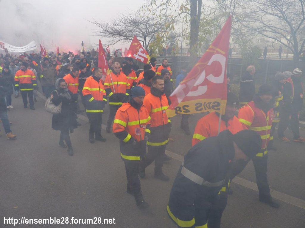 Chartres 05-12-2019 Manifestation Retraites 12