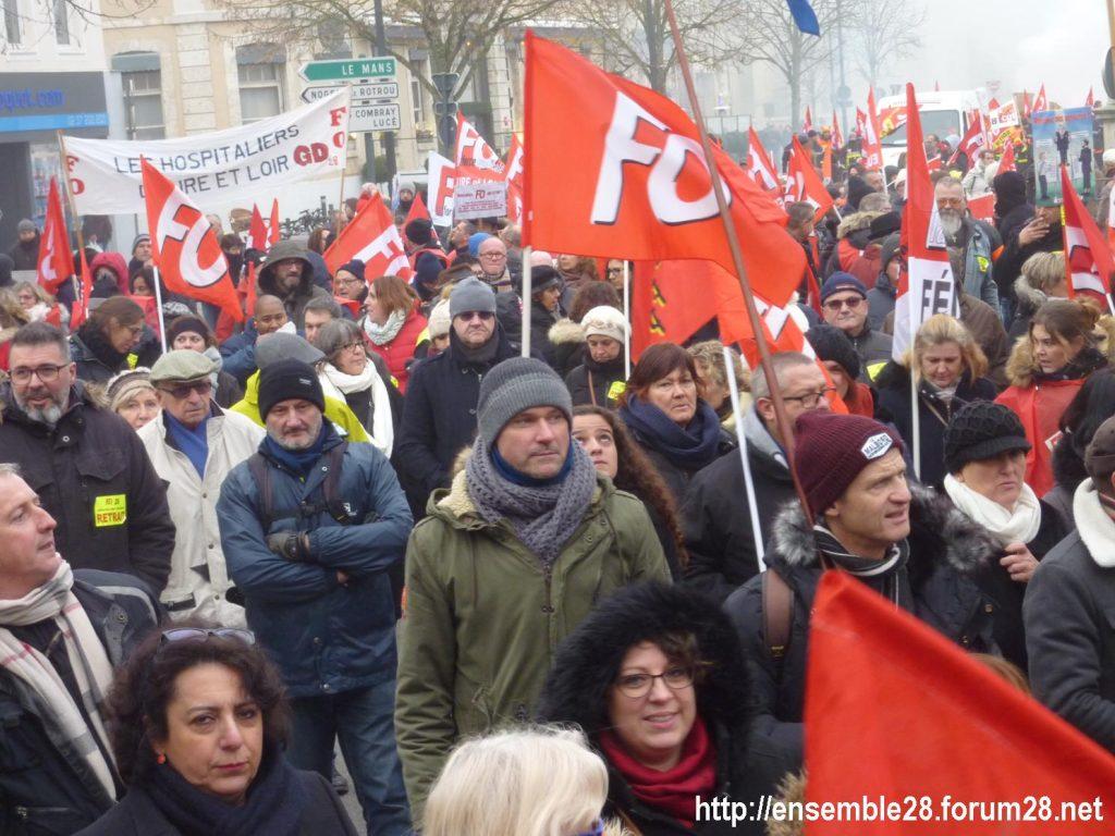 Chartres 05-12-2019 Manifestation Retraites 13