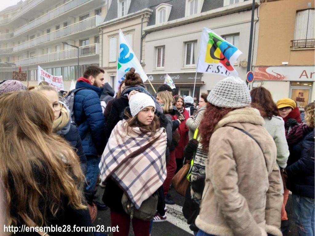 Chartres 05-12-2019 Manifestation Retraites 17