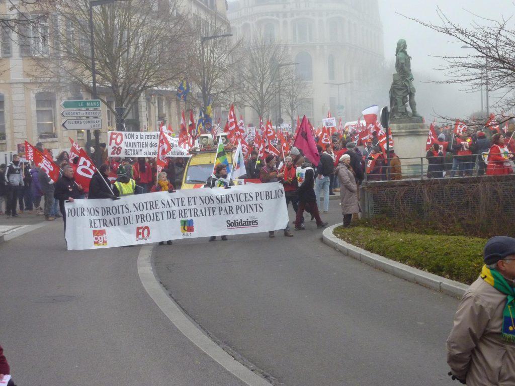 Chartres 05-12-2019 Manifestation Retraites X