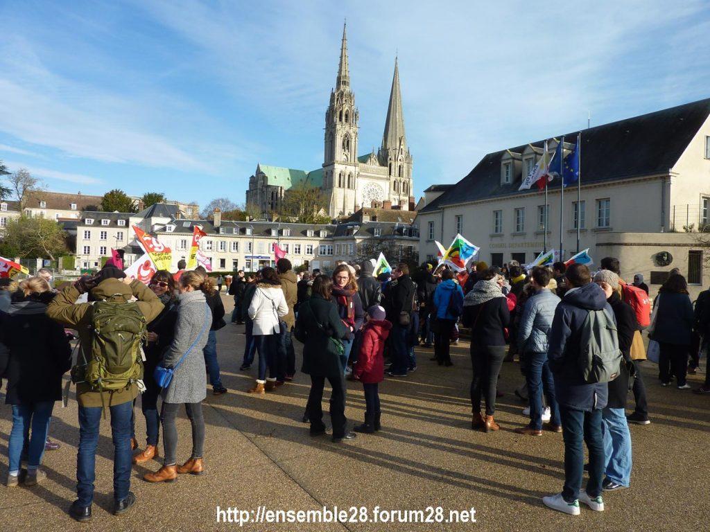 Chartres 14-12-2019 Manifestation Retraites 01