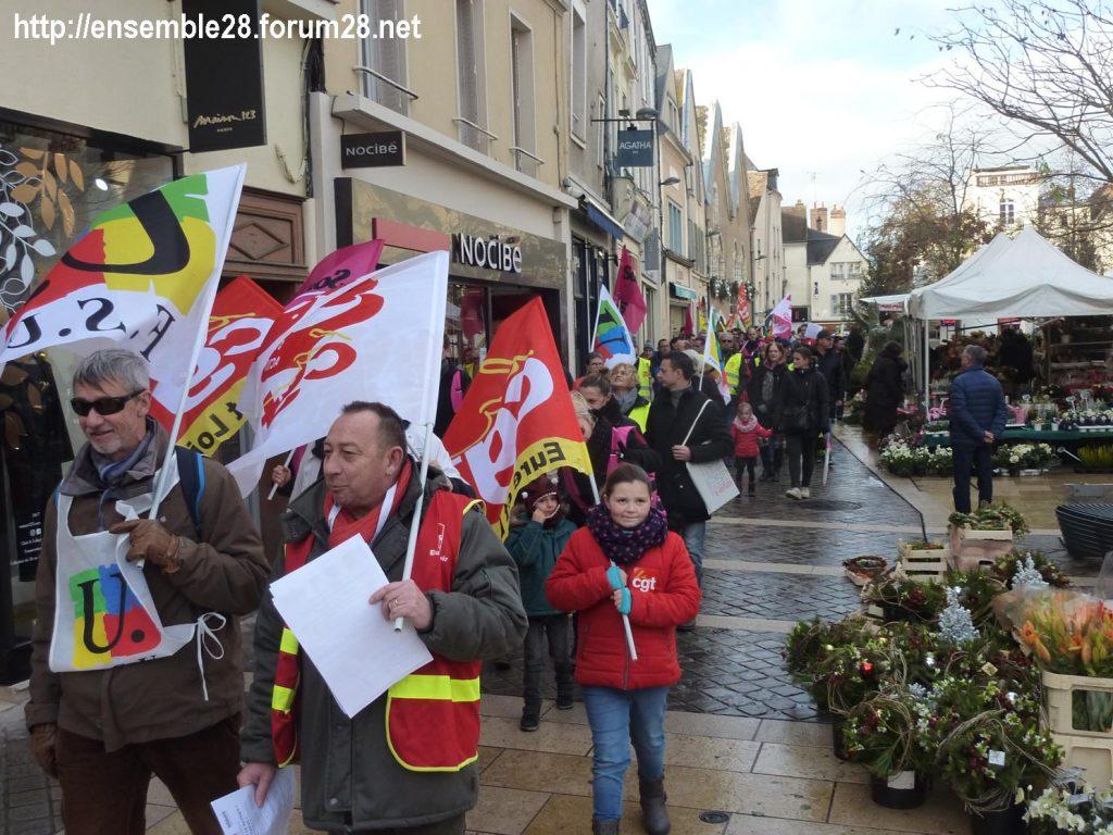 Chartres 14-12-2019 Manifestation Retraites 04